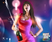 Grand Theft Auto 4, Girl with Champagne