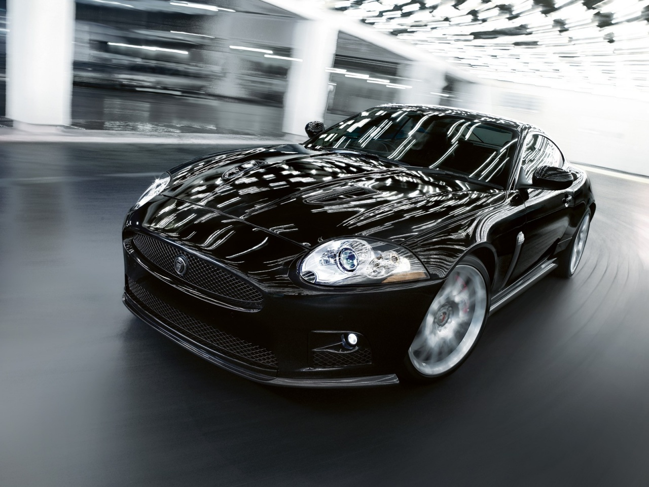 Black Jaguar XKR