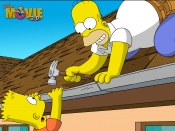 The Simpsons Movie - Roof Repairs