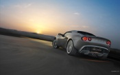 Lotus Elise at Sunset on the Track