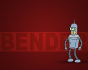 Futurama: Bender (Red Background)