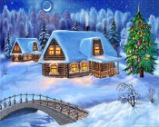 Happy New Year - Winter Houses