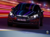 Opel Astra With Neon Reflections