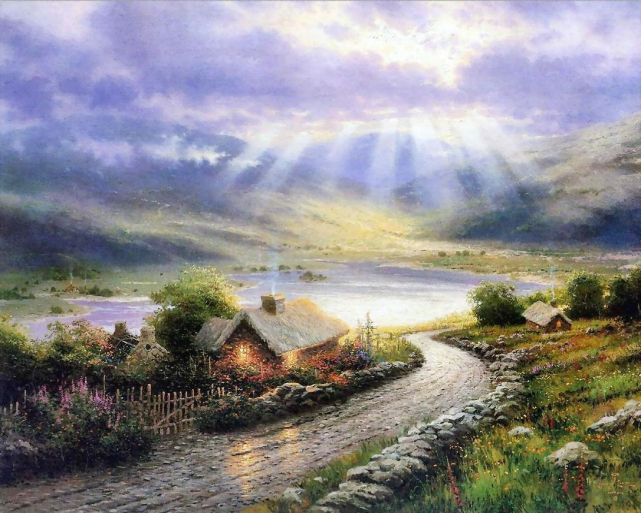 Thomas Kinkade - Sun After Storm