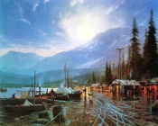 Thomas Kinkade - Evening in the Port