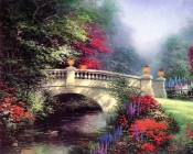 Thomas Kinkade - Stone Bridge Over the Creek