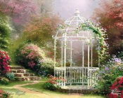 Thomas Kinkade - Gazebo in the Garden