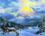 Thomas Kinkade - Big Yellow Mountain