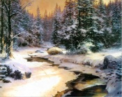 Thomas Kinkade - Freezing Creek