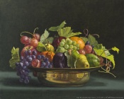 Donna Surprenant: Fruit Bowl With Grape Leaves