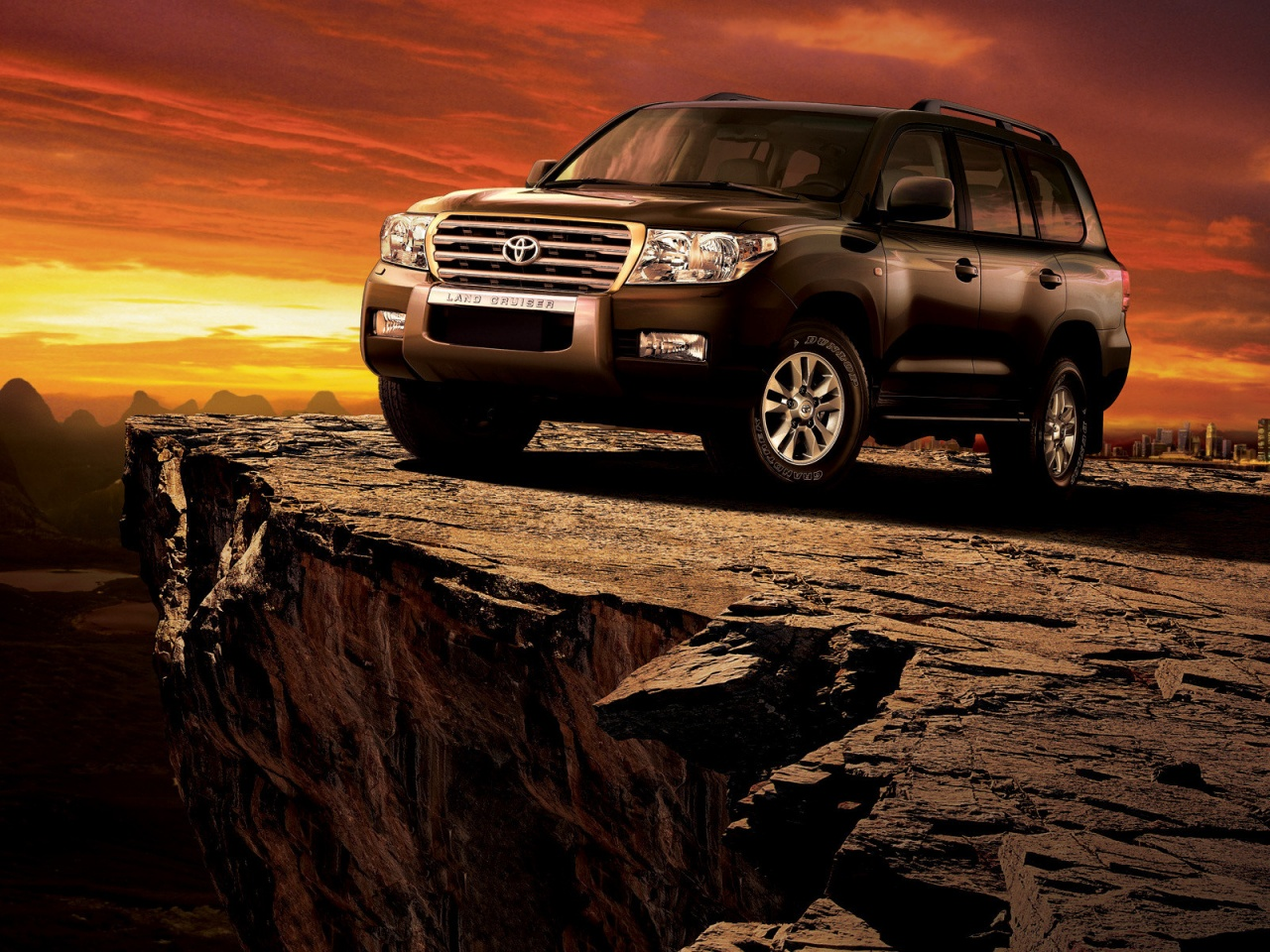 Toyota Land Cruiser at Sunset