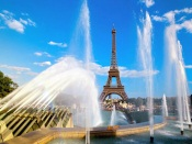 Eiffel Tower and Fountain, Paris, France