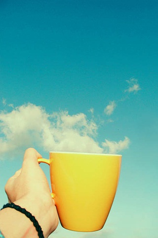 Cup of Tea, Sky Background