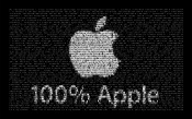 Apple Text 100 percents
