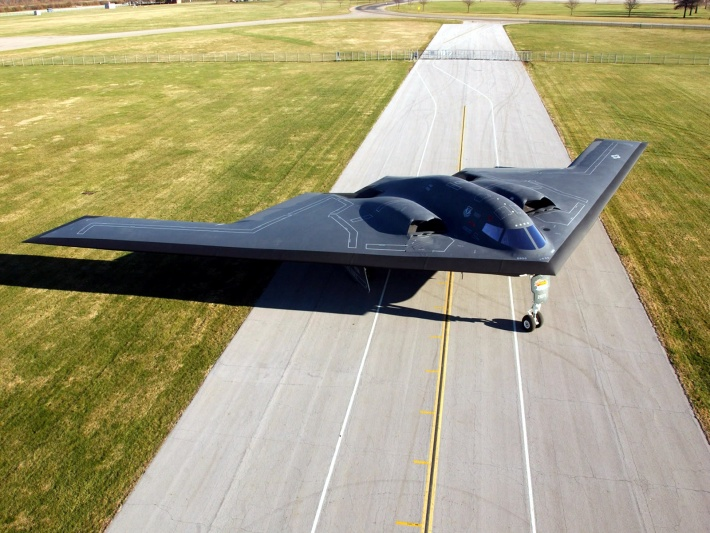 B2 on the runway
