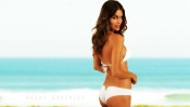 Anahi Gonzales in White Swimsuit