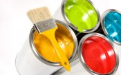 Colorful Paints with Brush