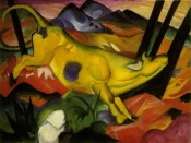 Franz Marc, The Yellow Cow, 1911, New York, Guggenheim Museum