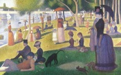 Georges Seurat, Sunday Afternoon On The Island Of La Grande Jatte, 1884, Chicago, Art Institute
