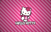 Hello Kitty, Striped Background