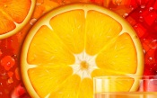 Sliced Orange and Juice