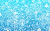 Snowflakes, Blue background