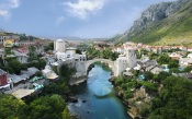 The Old Bridge in Mostar. Bosnia And Herzegovina