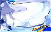 Sport in Vector. Skiing