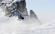 Eurocopter, EC 145, Helicopter, Snow, Mountains