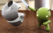 Android Cut Apple