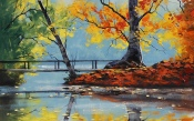 Autumn Lake, The Trees, The Picture