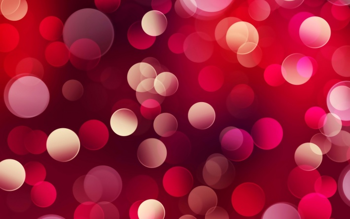Red Circles Abstract Background