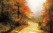 Autumn Lane, Thomas Kinkade
