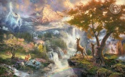 Bambi's First Year, Thomas kinkade, Walt Disney