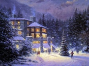 Christmas at the Ahwahnee, Christmas, Thomas Kinkade