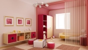 Childrens Room in Pink