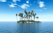 3D Island in the Sea