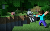 Minecraft: Fight With the Skeleton