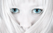Frozen Girl With Blue Eyes