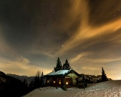 Quiet Winter Night in the Mountains