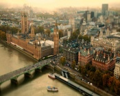 London, UK, tilt-shift photo