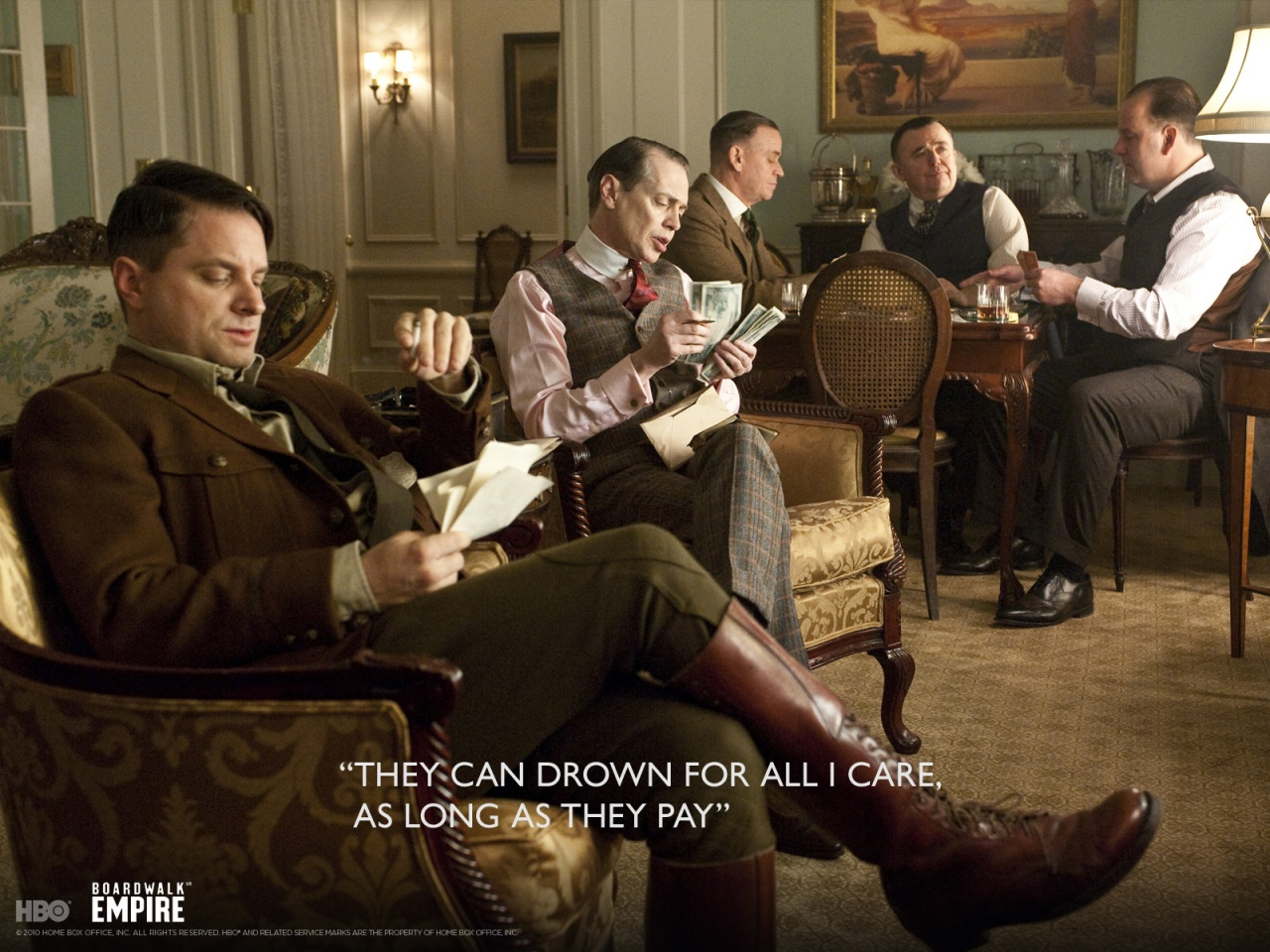They can drown, while they pay - Boardwalk Empire