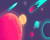 Abstract Space Illustration (Stars, planets, asteroids)